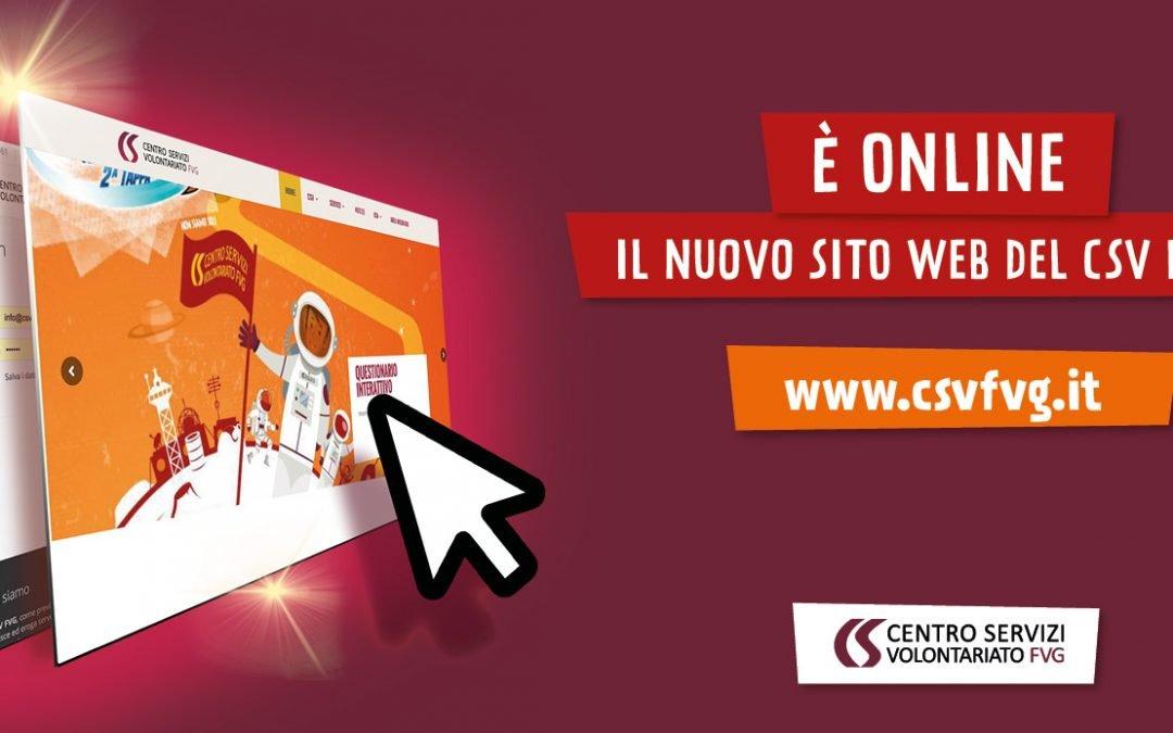 Il nuovo sito web del CSV FVG è online!