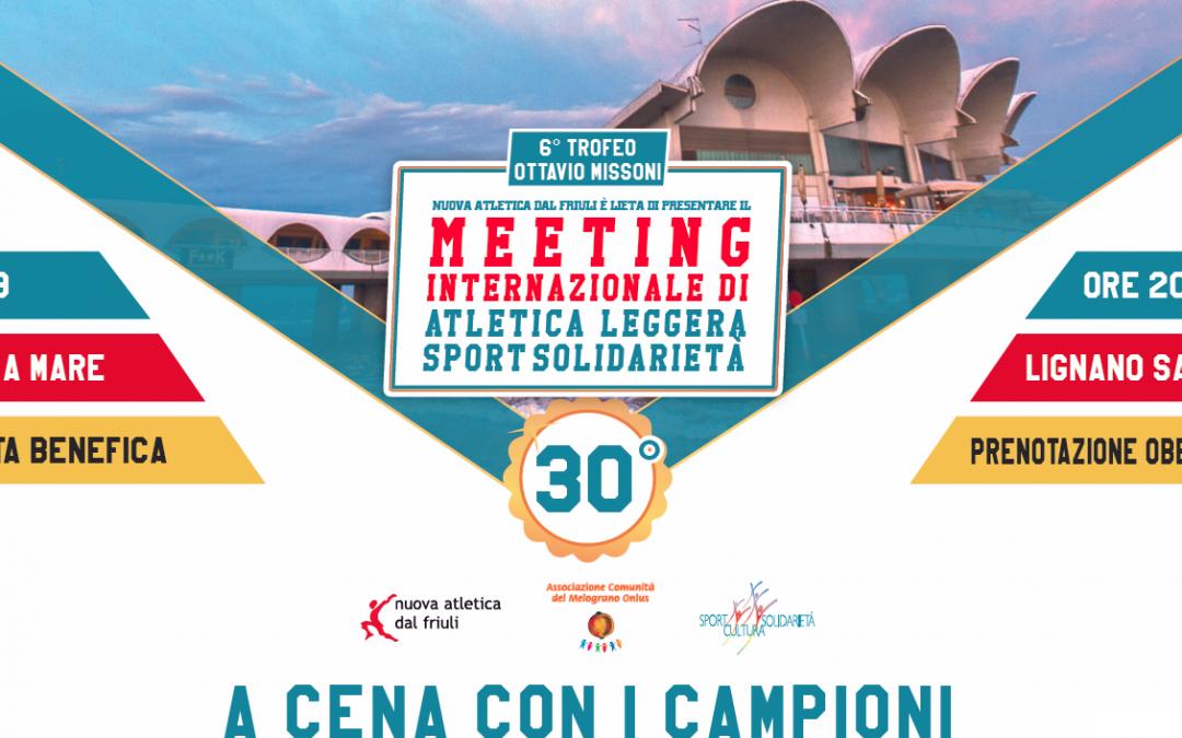 A CENA CON I CAMPIONI, serata solidale per il Melograno Onlus con gli atleti giamaicani