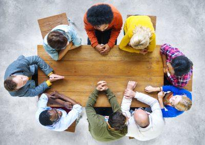 Ethnicity Teamwork Brainstorming Discussion Ideas Concept