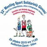"22° Meeting ""Sport Solidarietà Giovani"""