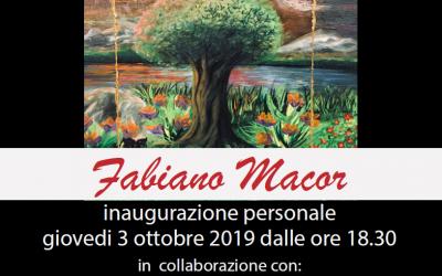 Fabiano Macor inaugura la mostra personale di pittura