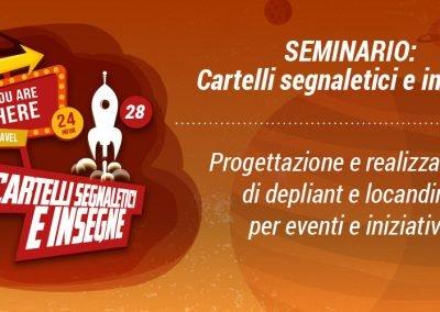 SEMINARIO IRTS – CARTELLI SEGNALETICI E INSEGNE – promuovere i propri eventi