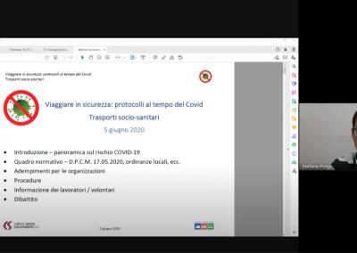 """Webinar """"Viaggiare in sicurezza – trasporti socio-sanitari"""""""
