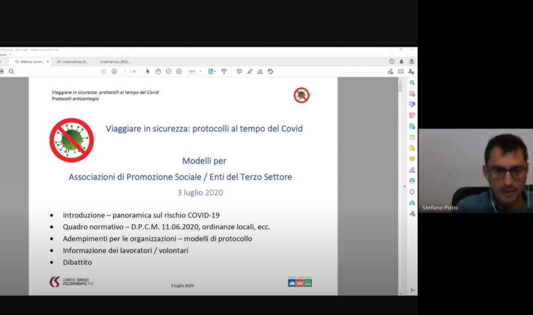 "Webinar IRTS ""Protocolli in sicurezza"""