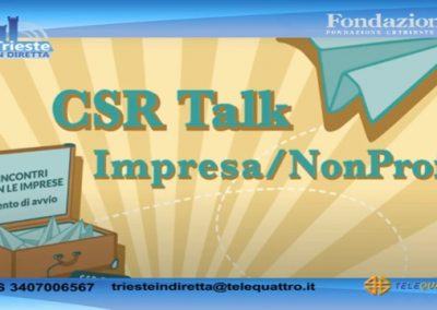 Intervista 11 febbraio a Telequattro Trieste in diretta –  Il volontariato d'impresa