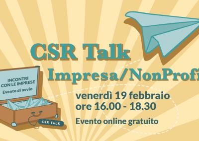 CSR Talk…Impresa/NonProfit