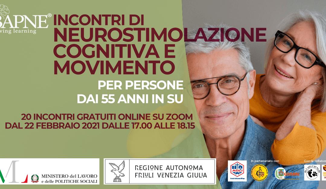 BAPNE®: incontri online di neurostimolazione cognitiva e movimento