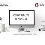 CONTRIBUTI REGIONALI 2021 - Avvio Procedimento.