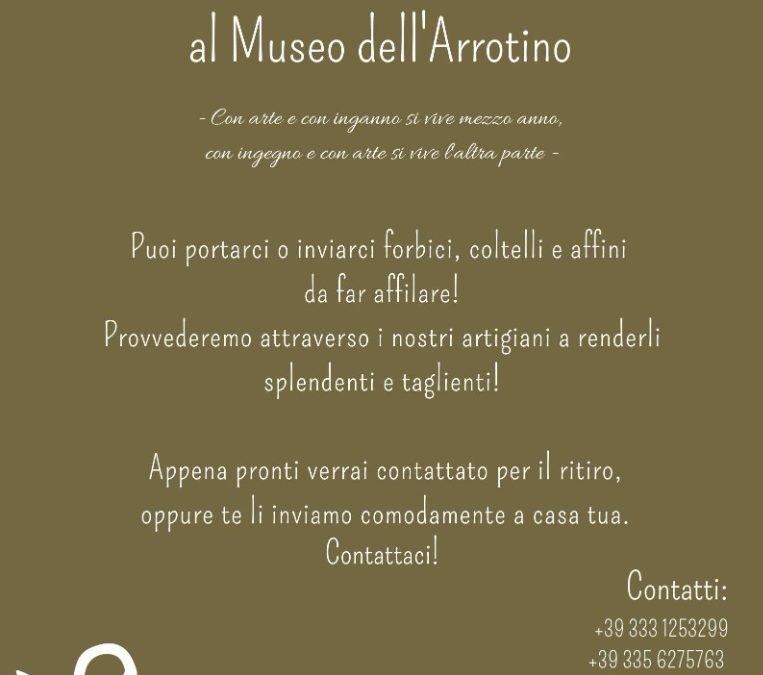 Riapre il Museo dell'Arrotino con affilatura utensili ed affini